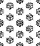 Διανυσματικοί σύγχρονοι άνευ ραφής κύβοι σχεδίων γεωμετρίας, γραπτή περίληψη ελεύθερη απεικόνιση δικαιώματος