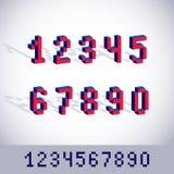 Διανυσματικοί σύγχρονοι ακέραιοι αριθμοί τεχνολογίας καθορισμένοι Γεωμετρικός τα ψηφία ελεύθερη απεικόνιση δικαιώματος