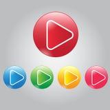 Διανυσματικοί σύγχρονοι τηλεοπτικοί παιχνίδι και ήχος κουμπιών Στοκ φωτογραφία με δικαίωμα ελεύθερης χρήσης