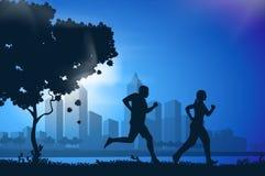 Διανυσματικοί τρέχοντας αθλητές σχεδίων Στοκ Εικόνα