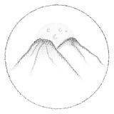 Διανυσματικοί λόφοι dotwork Στοκ εικόνες με δικαίωμα ελεύθερης χρήσης