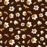 Διανυσματικοί floral νάρκισσοι μορίων απεικόνισης ελεύθερη απεικόνιση δικαιώματος