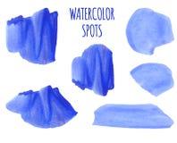 ΔΙΑΝΥΣΜΑΤΙΚΟ σύνολο ζωηρόχρωμων σημείων watercolor διανυσματική απεικόνιση