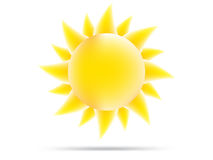 Διανυσματικός ήλιος σε ένα άσπρο υπόβαθρο Στοκ Εικόνα