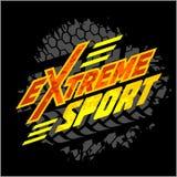 Διανυσματικός ακραίος αθλητισμός - έμβλημα moto απεικόνιση αποθεμάτων