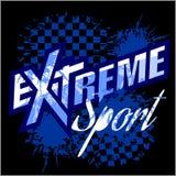 Διανυσματικός ακραίος αθλητισμός - διανυσματικό λογότυπο για την μπλούζα απεικόνιση αποθεμάτων