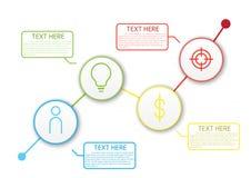 Διανυσματικός αριθμός ο διαγραμμάτων σχεδιαγράμματος ροής της δουλειάς Infographic απεικόνισης Στοκ Φωτογραφία