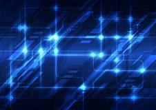 Διανυσματικός αφηρημένος φουτουριστικός πίνακας κυκλωμάτων, μπλε χρώμα τεχνολογίας απεικόνισης υψηλό ψηφιακό διανυσματική απεικόνιση