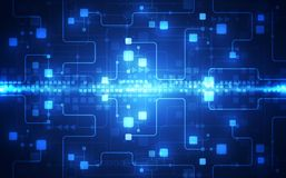 Διανυσματικός αφηρημένος φουτουριστικός πίνακας κυκλωμάτων, μπλε χρώμα τεχνολογίας απεικόνισης υψηλό ψηφιακό ελεύθερη απεικόνιση δικαιώματος