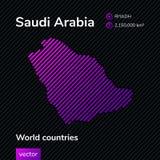 Διανυσματικός αφηρημένος χάρτης της Σαουδικής Αραβίας απεικόνιση αποθεμάτων
