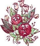 διανυσματικός γάμος απεικόνισης λουλουδιών Στοκ εικόνες με δικαίωμα ελεύθερης χρήσης