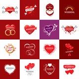 Διανυσματικός γάμος λογότυπων Στοκ φωτογραφία με δικαίωμα ελεύθερης χρήσης