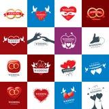 Διανυσματικός γάμος λογότυπων Στοκ Φωτογραφίες