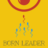 Διανυσματικός γεννημένος ηγέτης επίπεδος Στοκ φωτογραφίες με δικαίωμα ελεύθερης χρήσης