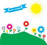 Διανυσματικός γραφικός θερινός ήλιος φύσης Στοκ φωτογραφίες με δικαίωμα ελεύθερης χρήσης