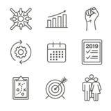 2019 διανυσματικός γραφικός στόχων του cSmart με τις έξυπνες λέξεις κλειδιά στόχου διανυσματική απεικόνιση