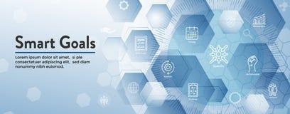 2019 διανυσματικός γραφικός στόχων του cSmart με τις έξυπνες λέξεις κλειδιά στόχου απεικόνιση αποθεμάτων
