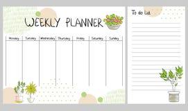 Διανυσματικός εβδομαδιαίος αρμόδιος για το σχεδιασμό Απεικόνιση αποθεμάτων
