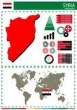 Διανυσματικός εθνικός πολιτισμός έθνους χωρών απεικόνισης της Συρίας concep Στοκ εικόνες με δικαίωμα ελεύθερης χρήσης