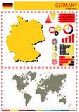 Διανυσματικός εθνικός πολιτισμός έθνους χωρών απεικόνισης της Γερμανίας συμπυκνωμένος Στοκ φωτογραφία με δικαίωμα ελεύθερης χρήσης