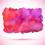 Διανυσματικός λεκές χρωμάτων watercolor κόκκινος με τη σκιά Στοκ Εικόνες