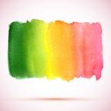 Διανυσματικός λεκές χρωμάτων watercolor grunge με τη σκιά Στοκ Εικόνες