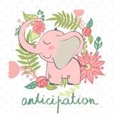 Διανυσματικός ελέφαντας κινούμενων σχεδίων Στοκ φωτογραφία με δικαίωμα ελεύθερης χρήσης