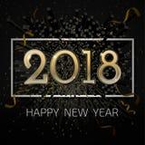 Διανυσματικός εορτασμός BG καλής χρονιάς του 2018 Στοκ Εικόνα