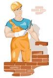 Διανυσματικός εργάτης οικοδομών Στοκ Εικόνα