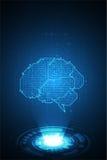 Διανυσματικός ηλεκτρονικός εγκέφαλος τεχνολογίας Στοκ Εικόνες