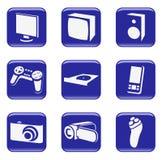 διανυσματικός Ιστός εικονιδίων ηλεκτρονικής κουμπιών διανυσματική απεικόνιση
