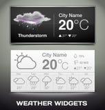 Διανυσματικός καιρός Widgets Στοκ φωτογραφία με δικαίωμα ελεύθερης χρήσης