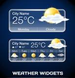 Διανυσματικός καιρός Widgets Στοκ φωτογραφίες με δικαίωμα ελεύθερης χρήσης