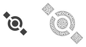 Διανυσματικός κοινός κόμβος πλέγματος δικτύων και επίπεδο εικονίδιο ελεύθερη απεικόνιση δικαιώματος