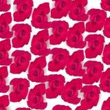 Διανυσματικός κόκκινος αυξήθηκε άνευ ραφής υπόβαθρο Στοκ φωτογραφία με δικαίωμα ελεύθερης χρήσης