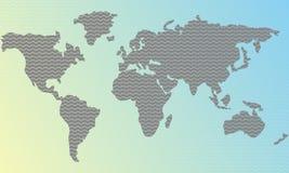 Διανυσματικός κόσμος υποβάθρου κυμάτων αφηρημένος Κλίση χρώματος Ελεύθερη απεικόνιση δικαιώματος