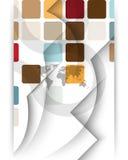 διανυσματικός κόσμος χαρτών ανασκόπησης φουτουριστικός ελεύθερη απεικόνιση δικαιώματος