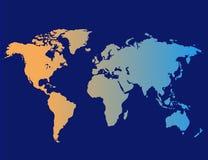 διανυσματικός κόσμος χαρτών Στοκ Εικόνες