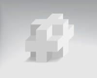 Διανυσματικός κύβος Στοκ Εικόνα