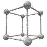 Διανυσματικός κύβος Dotwork πλέγματος Wireframe Στοκ Εικόνες