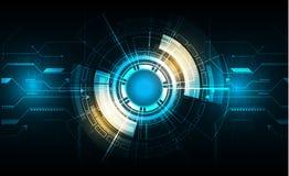 Διανυσματικός κύκλος τεχνολογίας με διάφορο τεχνολογικό Στοκ εικόνες με δικαίωμα ελεύθερης χρήσης