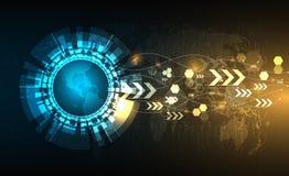 Διανυσματικός κύκλος τεχνολογίας με διάφορο τεχνολογικό Στοκ φωτογραφία με δικαίωμα ελεύθερης χρήσης