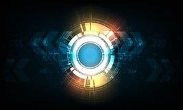 Διανυσματικός κύκλος τεχνολογίας με διάφορο τεχνολογικό Στοκ εικόνα με δικαίωμα ελεύθερης χρήσης