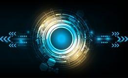 Διανυσματικός κύκλος τεχνολογίας με διάφορο τεχνολογικό Στοκ Φωτογραφίες