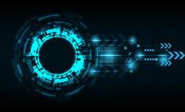 Διανυσματικός κύκλος τεχνολογίας με διάφορο τεχνολογικό Στοκ Φωτογραφία
