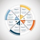 Διανυσματικός κύκλος infographic Στοκ φωτογραφίες με δικαίωμα ελεύθερης χρήσης