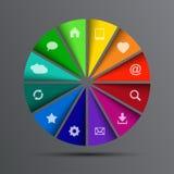 Διανυσματικός κύκλος με τα εικονίδια Στοκ φωτογραφία με δικαίωμα ελεύθερης χρήσης