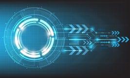 Διανυσματικός κύκλος τεχνολογίας και ψηφιακή έννοια τεχνολογίας Στοκ Εικόνες
