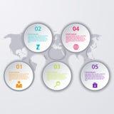 Διανυσματικός κύκλος υπόδειξης ως προς το χρόνο infographics απεικόνισης διανυσματική απεικόνιση