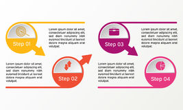 Διανυσματικός κύκλος infographic Επιχειρησιακά διαγράμματα, παρουσιάσεις και διαγράμματα Υπόβαθρο Στοκ εικόνα με δικαίωμα ελεύθερης χρήσης